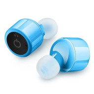 *SALE* Truly Twins Mini Invisible Bluetooth V4.2 Wireless Noise Canceling Stereo Earbuds Headsets - Blue