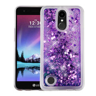 Quicksand Glitter Transparent Case for LG K20 Plus / K20 V / K10 (2017) / Harmony - Purple