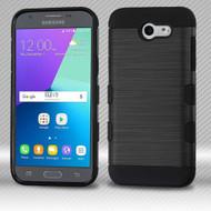 Military Grade TUFF Trooper Case for Samsung Galaxy J3 (2017) / J3 Emerge / J3 Prime / Amp Prime 2 / Sol 2 - Black