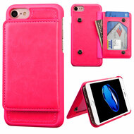 Pocket Wallet Case with Stand for iPhone 8 / 7 - Hot Pink