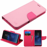 Diary Leather Wallet Case for Samsung Galaxy S8 - Pink