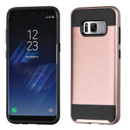 Brushed Hybrid Armor Case for Samsung Galaxy S8 - Rose Gold