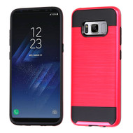 Brushed Hybrid Armor Case for Samsung Galaxy S8 - Red