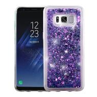 Quicksand Glitter Transparent Case for Samsung Galaxy S8 - Purple