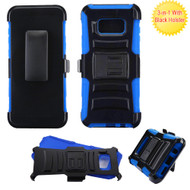 Advanced Armor Hybrid Kickstand Case with Holster for Samsung Galaxy S8 Plus - Black Blue