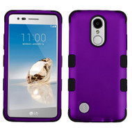 Military Grade TUFF Hybrid Armor Case for LG Aristo / Fortune / K8 2017 / Phoenix 3 - Purple