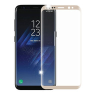 3D Curved Full Coverage Premium HD Tempered Glass Screen Protector for Samsung Galaxy S8 - Gold