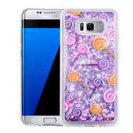 Quicksand Glitter Transparent Case for Samsung Galaxy S8 Plus - Lollipop