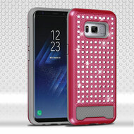 Luxury Bling Diamond Hybrid Case for Samsung Galaxy S8 - Hot Pink