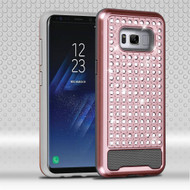 Luxury Bling Diamond Hybrid Case for Samsung Galaxy S8 - Rose Gold