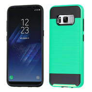 Brushed Hybrid Armor Case for Samsung Galaxy S8 Plus - Teal Green