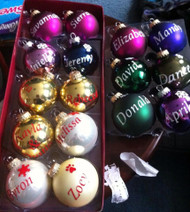 Christmas tree bulb Personalized with a name