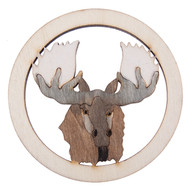 Hand Carved moose coasters 4 pcs