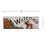 Large Moose Welcome Sign