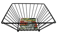 Metal Wire Basket with Ceramic Tile Base