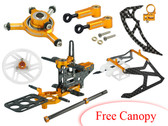 Microheli T-REX 150 DFC CNC Performance X Frame package (GOLD)
