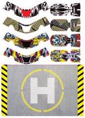 Upgrade RC UPG7604 FAZE Set Two Skin / Decal / Sticker 4pc w/ Helipad Faze Quad