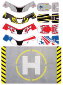 Upgrade RC UPG7603 FAZE Set One Skin / Decal / Sticker 4pc w/ Helipad Faze Quad