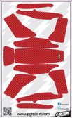 Upgrade RC Red Faux Carbon Skin / Decal / Sticker 200QX UPG7212