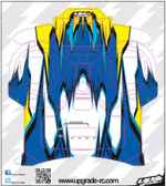 Upgrade RC UPG7301 Blue / Yellow Macro Skin / Decal / Sticker for Spektrum DX5e