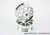 "RPM ""8-Ball Chrome Sedan Wheels 1/10 Touring Hpi,Tamiya,Kyosho,Traxxas"