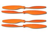 Tarot  1045 10 x 4.5 Propeller 4 CW, 4 CCW / Orange / 5mm 4pcs Props