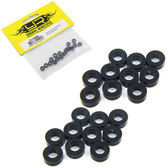 Yeah Racing YA-0396BK Aluminum M3 Flat Washer 2.5mm 20pcs Black
