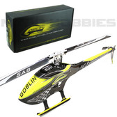 Sab SG634 Goblin 630 Competition Yellow/Carbon Helicopter Kit w/ Main/Tail Blades