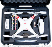 Go Professional DJI PHANTOM CASE w/ TABLET SPACE  / GOPRO  HARD CASE