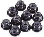 Tekno R/C M4 Locknuts Flanged/Black/Serrated (10) TKR1212
