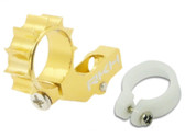 Rakon Heli CNC 6mm Tail Motor Mount w/ Delrin Protection Gold