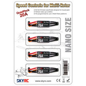 SKY RC SK-300068-01 20A NANO Speed Controls for Multi-Rotor (4)
