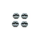 STRC CNC Machined Aluminum Lock Pin Type Hex Adapters Gun Metal (4 pcs)
