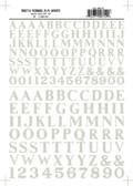 Woodland Scenics Roman R.R. Letters White 3/8-1/2 MG714