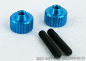 EXOTEK 1191LB ALLOY TWIST NUTS Light Blue Tamiya