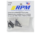 RPM Screw Kit for Wide Front A-Arms : Rustler / Stampede 2wd