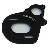 SAMIX SCX-6037BK Aluminium Motor Plate Black: SCX10 / SCX10-2 / Wratih / AX10