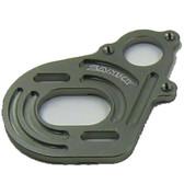 SAMIX SCX-6037GM Aluminium Motor Plate GunMetal: SCX10 / SCX10-2 / Wratih / AX10