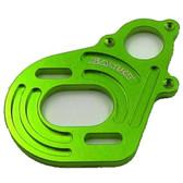 SAMIX SCX-6037GN Aluminium Motor Plate Green: SCX10 / SCX10-2 / Wratih / AX10
