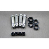 SAMIX SCX-6040S Aluminum Shock Body Full Set Silver (4set) : SCX10-2