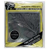 Woodland Scenics Light, Medium and Dark Green Trees 3x5in (14)