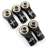 Yeah Racing YA-0550BK Aluminum M3 Rod Ends 5pcs Black