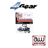 Auto World 4Gear Front Tire (Pair) (6) Pack : 1:64 / HO Scale Slot Car