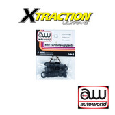 Auto World Xtraction Rear Tire (Pair) (6) Pack: 1:64 / HO Scale Slot Car