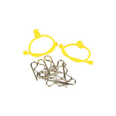 Radient Body Clips with Yellow Retainers (2) RDNA0308