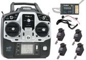 Futaba 6JA 6-Ch 2.4GHz S-FHSS Radio w/ R2006GS Receiver 4x S3004 Servos FUTK6001