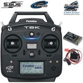 Futaba 6K 6-Channel 2.4GHz Airplane Radio w/ R3006SB Receiver FUTK6100