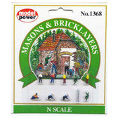 Model Power 1368 Masons & Bricklayers : N Scale