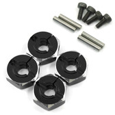 Yeah Racing WA-032BK Aluminum Hex Adaptor Set 12x5.5mm For 1/10 RC Touring Drift Crawler Black