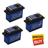 POWER HD DC Motor 277.7 oz / .16 Copper & Aluminum Gear Digital Servo (3)